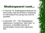 shakespeare cont