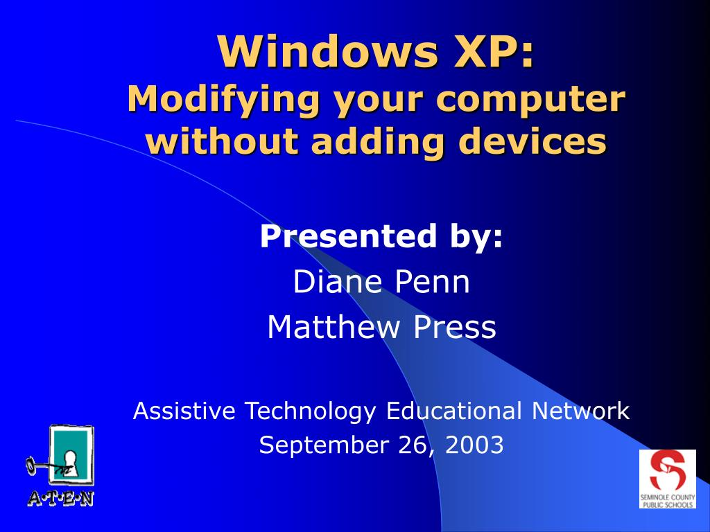 windows xp modifying your computer without adding devices l.