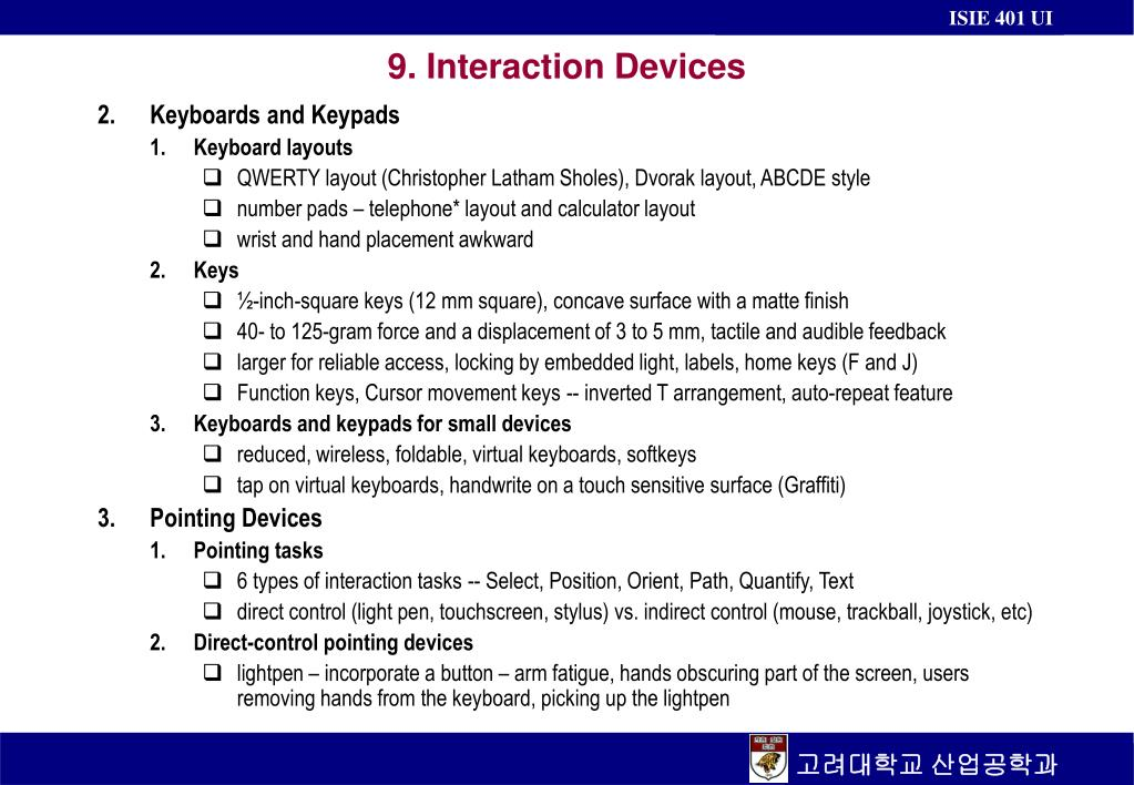 9 interaction devices l.