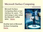 microsoft surface computing
