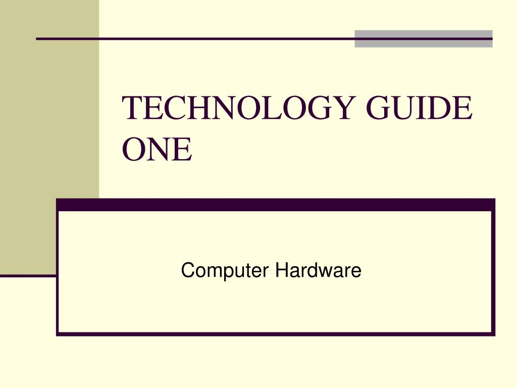technology guide one l.