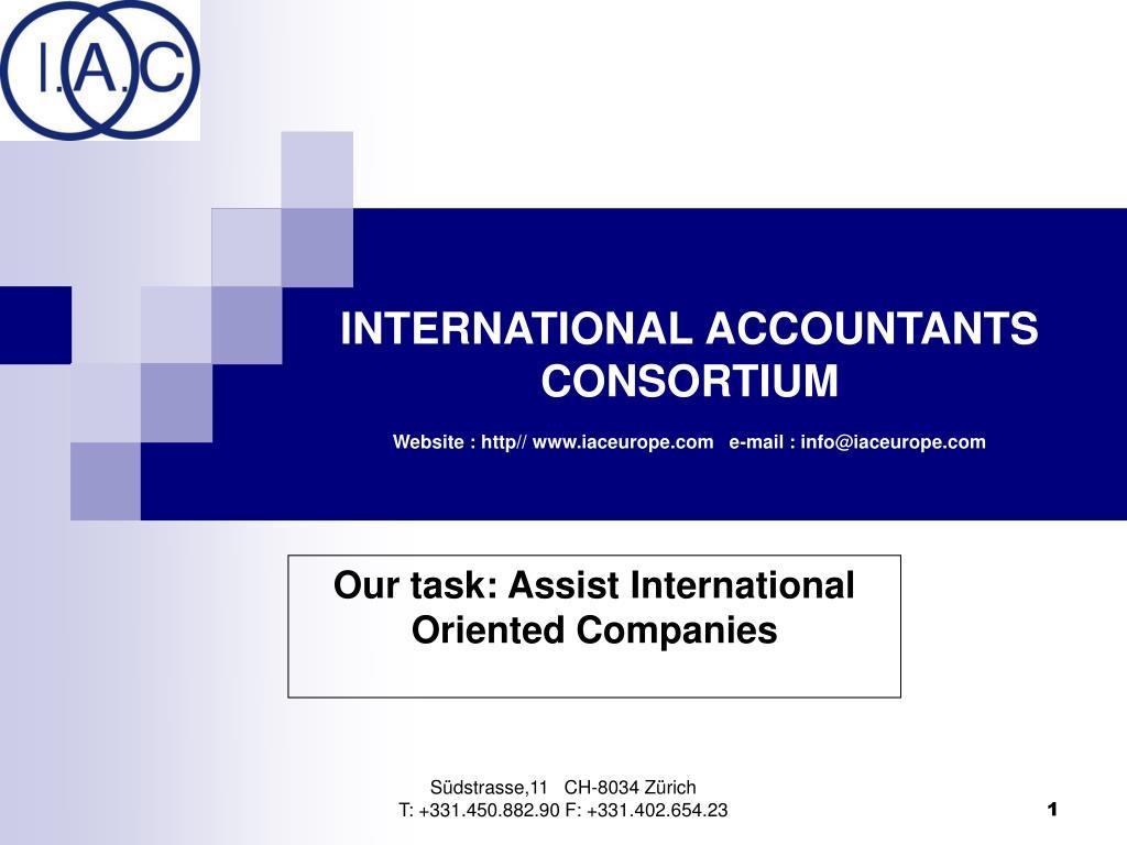 INTERNATIONAL ACCOUNTANTS CONSORTIUM