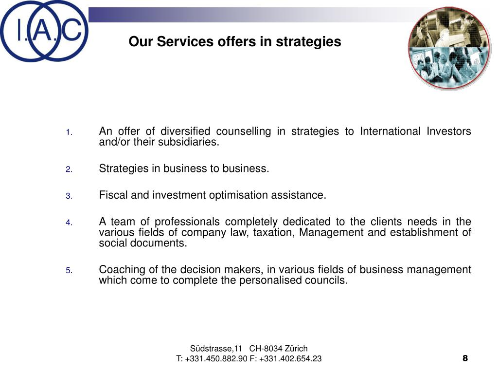 Our Services offers in strategies