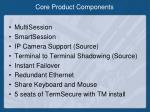 core product components