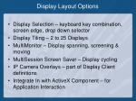 display layout options