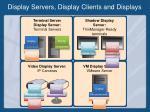 display servers display clients and displays