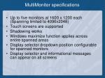 multimonitor specifications