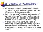 inheritance vs composition
