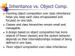 inheritance vs object comp