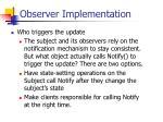 observer implementation57