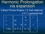 harmonic prolongation via expansion