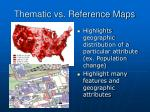 thematic vs reference maps
