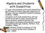 algebra and students with disabilities