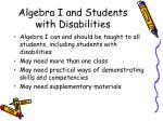 algebra i and students with disabilities