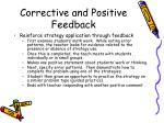 corrective and positive feedback