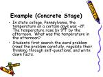 example concrete stage