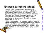 example concrete stage41