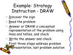 example strategy instruction draw
