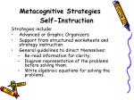 metacognitive strategies self instruction