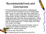 recommendations and conclusions58