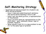 self monitoring strategy47