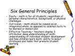 six general principles