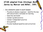 star adapted from strategic math series by mercer and miller 1991