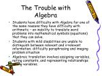 the trouble with algebra