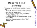 using the star strategy14