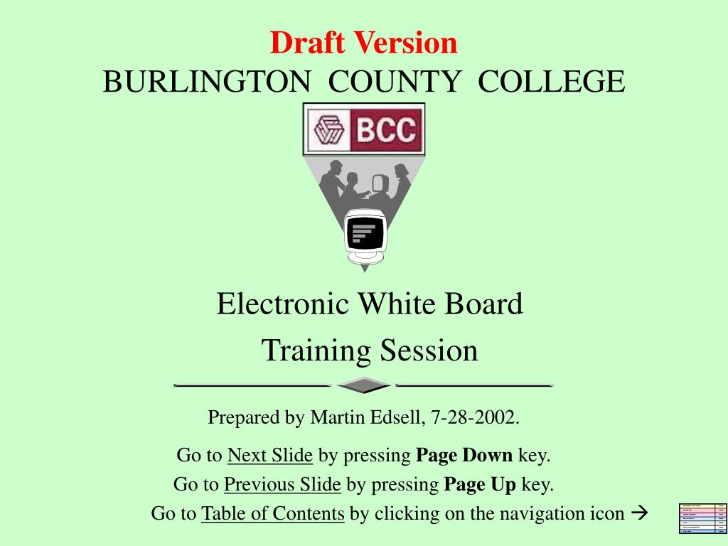 draft version burlington county college l.