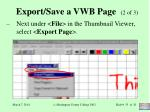 export save a vwb page 2 of 3