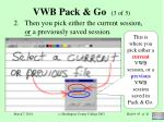 vwb pack go 3 of 5