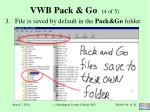 vwb pack go 4 of 5