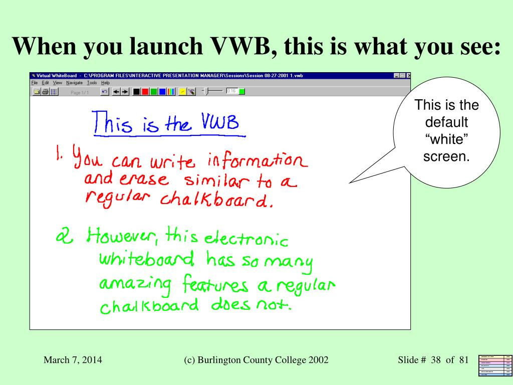 When you launch VWB, this is what you see: