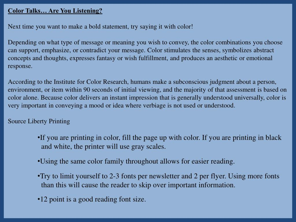 Color Talks… Are You Listening?