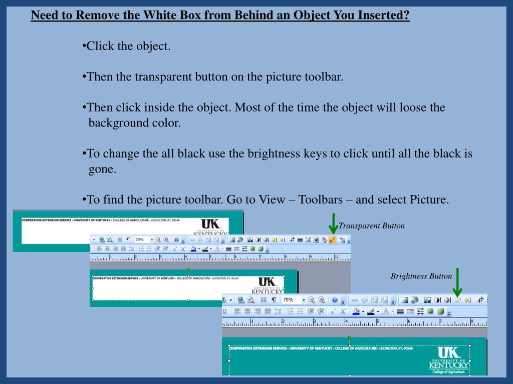 Need to Remove the White Box from Behind an Object You Inserted?