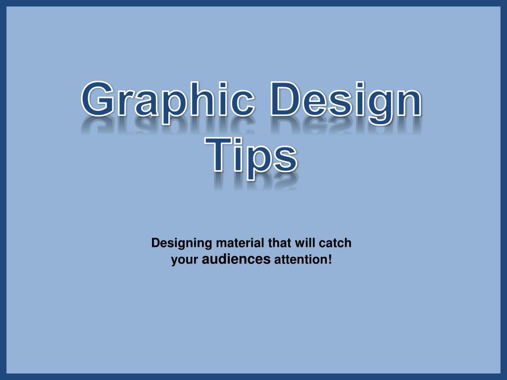 Graphic Design Tips