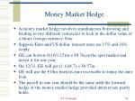 money market hedge
