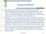 temporal method