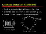 kinematic analysis of mechanisms