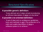 structured specification