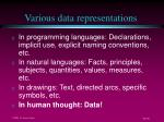 various data representations