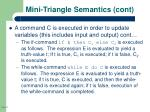 mini triangle semantics cont