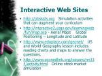 interactive web sites