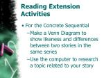 reading extension activities