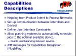 capabilities descriptions