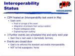 interoperability status