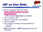 jdf on one slide