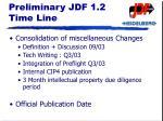 preliminary jdf 1 2 time line