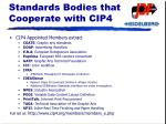 standards bodies that cooperate with cip4